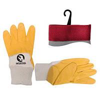 Рукавичка х / б трикотаж покрита нітрилом на долоні Intertool SP-0110 | перчатка покрыта нитрилом ладони