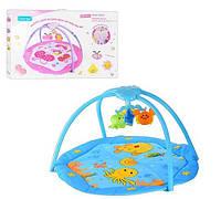 Детский развивающий музыкальный коврик для младенца, карусель, свет