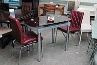 Круглый обеденный стол ТВ 66-1 рубин, 60/100*100*75
