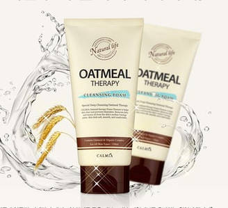 Пенка очищающая и увлажняющая с овсом CALMIA Oatmeal Therapy Cleansing Foam