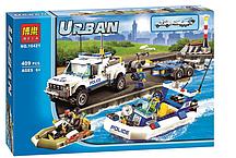 """Конструктор Bela City 10421 """"Полицейский патруль"""" (Аналог Lego City 60045), 409 дет"""