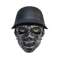 """Тактическая маска для игры в страйкбол """"Зомби"""" - Black silver"""