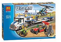 """Конструктор Bela City 10422  """"Перевозчик вертолета"""" (Аналог Lego City 60049), 410 дет"""