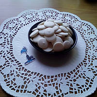 Шоколадные чипсы (монеты) Белые 1 кг.