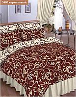 """Комплект постельного белья """"Viluta"""" ранфорс двухспальный (нестандарт) Вилюта № 5400 коричневый"""