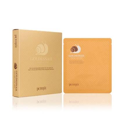 Гидрогелевая маска для лица с золотом и улиткой Petitfee Gold & Snail Hydrogel Mask Pack, фото 2