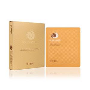 Гидрогелевая маска для лица с золотом и улиткой Petitfee Gold & Snail Hydrogel Mask Pack