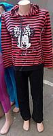 Костюм домашний женский  на байке с капюшоном 48р,доставка по Украине