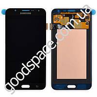 Модуль Samsung J700H: дисплей + тачскрин (сенсор), цвет черный
