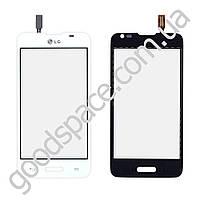 Тачскрин (сенсор) LG D280 Optimus L65, цвет белый, на 2 sim карты
