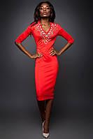 Нарядное Красивое Праздничное Платье Красное р. 42-50