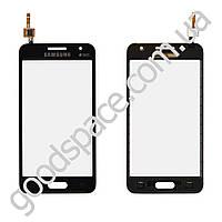 Тачскрин (сенсор) Samsung G355H Galaxy Core 2, цвет черный, на 2 sim карты, ревизия 3, копия высоког