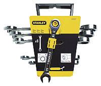 Набор гаечных ключей Stanley 4-89-907, 10-19 мм с храповиком