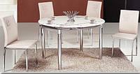 Обеденный стеклянный стол ТВ 66-1 кофе с молоком 60/100*100*75