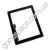 Тачскрин (сенсор) со стеклом для iPad New 3 4, цвет черный, оригинал