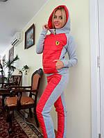 Женский спортивный костюм плащевка на синтепоне цвет красный