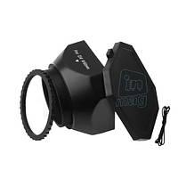 Квадратная бленда для видеокамер DV с резьбовым соединением 30,5 мм.