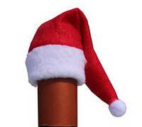 Новогодний колпак Санта Клаус (Дед Мороз) на бутылку