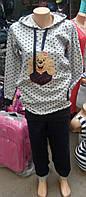 Костюм домашний на байке с длинным рукавом,доставка по Украине