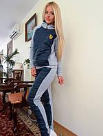 Женский спортивный костюм плащевка на синтепоне цвет черный