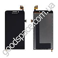 Дисплей Lenovo A828T с тачскрином в сборе, цвет черный