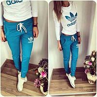 Спортивный костюм женский Adidas Лили голубой , спортивная одежда