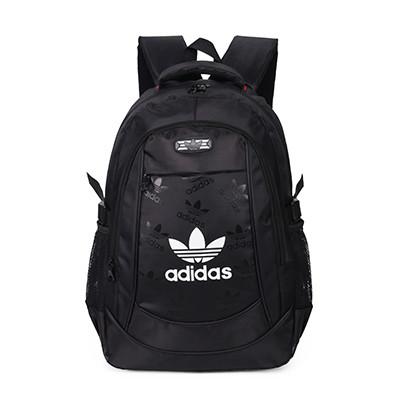 Спортивный рюкзак Adidas черный с белым логотипом (реплика)