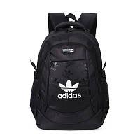 Спортивный рюкзак Adidas черный с белым логотипом