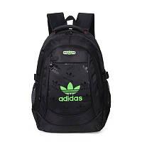 Спортивный рюкзак Adidas черный с салатовым логотипом