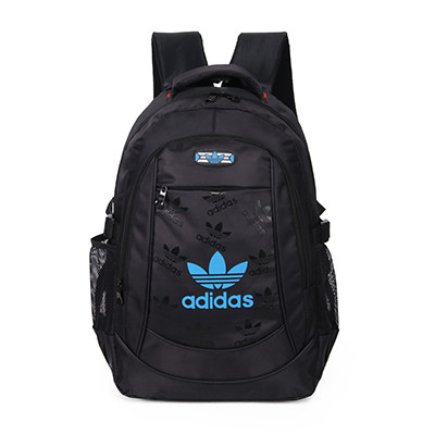 Спортивный рюкзак Adidas черный с синим логотипом (реплика)