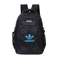 Спортивный рюкзак Adidas черный с синим логотипом