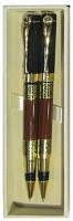 Набор подарочный: 2 ручки (роллер и чернильная,Sonata)