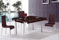 Обеденный стеклянный стол ТВ 041 рубин, 60/100*100*75 см