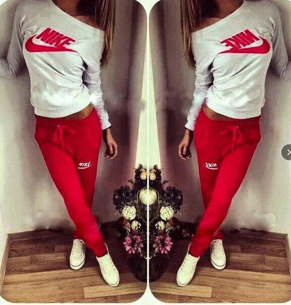 55f514dc Спортивный костюм женский Nike красный , одежда женская - Интернет-магазин