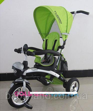 Детский трехколесный велосипед Беговел трансформер M 3212A-3 зеленый