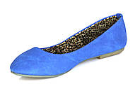 Женские балетки синего цвета