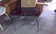 Стол стеклянный ТВ 086 рубин, 100/120*60*75см (автоматическая раскладка)