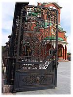 Ворота на храм в честь Святых Апостолов Петра и Павла в г. Тальное (Черкасская обл.) 4