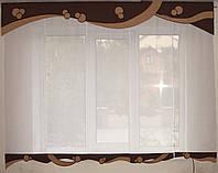 Комплект панельных шторок и ламбрекен Эксклюзив