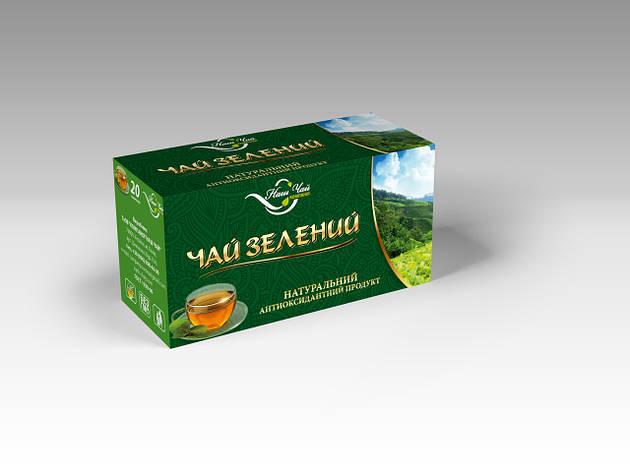 Чай зелений  20 пак (Наш Чай) м.Львів, фото 2