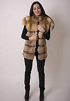 Модная жилетка из лисы. Длина 65 см , фото 1