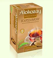 Alokozay чай черный пакетированный с кардамоном 25 х 2г