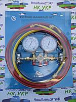 Коллектор 2-х вент. с манометром CH-501G (R-12) с 3-мя шлангами , фото 1