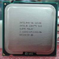ТОПОВЫЙ ПРОЦЕССОР на 2 ЯДРА S 775 Intel Core2DUO E8500 ( Сore2 DUO E 8500 2 по 3,16Ghz каждое, FSB 1333 s775 )
