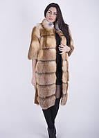 Шуба из меха лисы длинна 100 см
