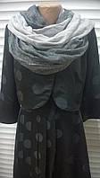 Стильный шарф палантин  из хлопка  цвет - серый