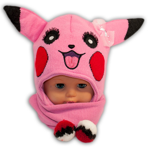 Комплект (шапка + шарф) для девочки Pokemon