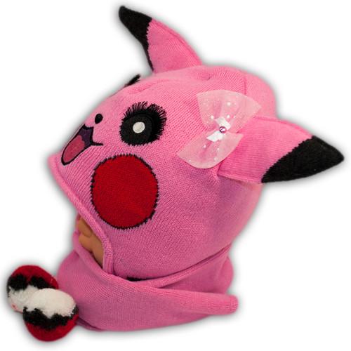 Комплект (шапка+шарф) для девочки Pikachu