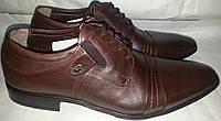 Туфли мужские кожаные р39-45 Monte KARLO корич