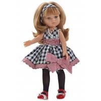 Кукла  ПОДРУЖКА КАРЛА В КЛЕТЧАТОМ ПЛАТЬЕ 32 см PAOLA REINA  04587